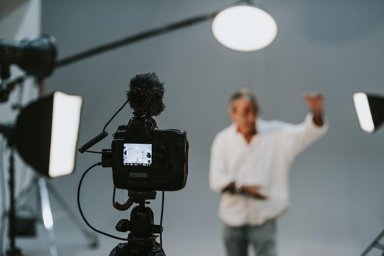 Aufnahmen in einem Fotostudio.