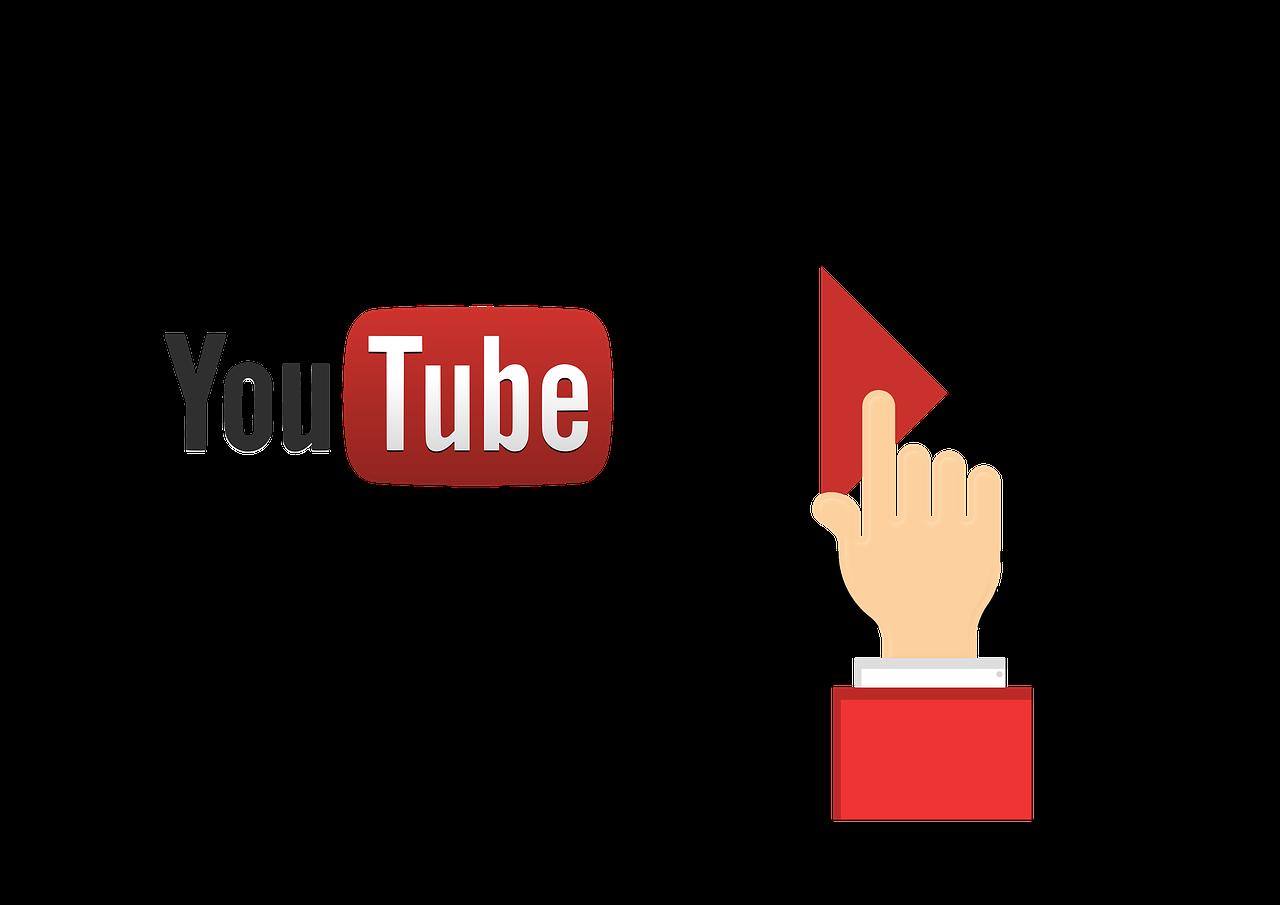 Youtube Logo in einem Filmstreifen